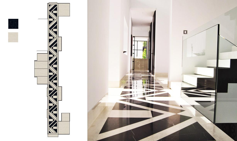 Diseño alfombra de mármol