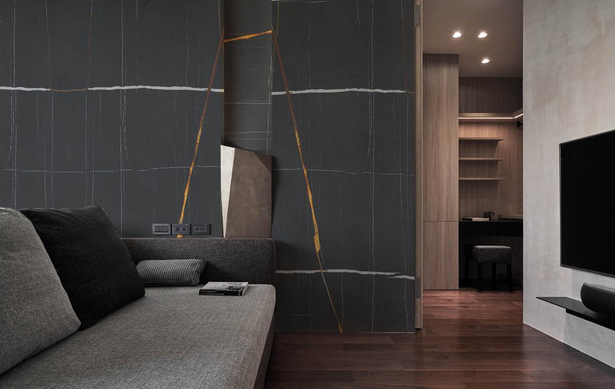 Blak Mirage marble - Wall - Pared - Mármol Black Mirage