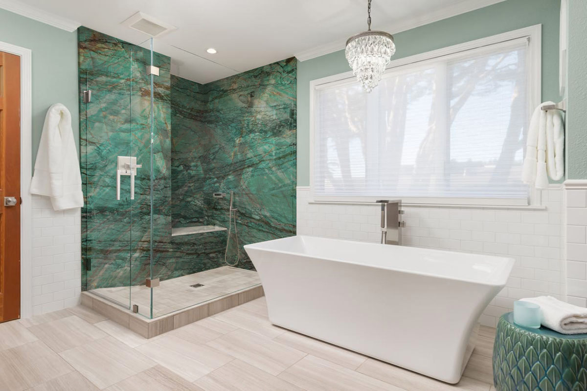 Pared de baño - Botanic Green - Bathroom wall