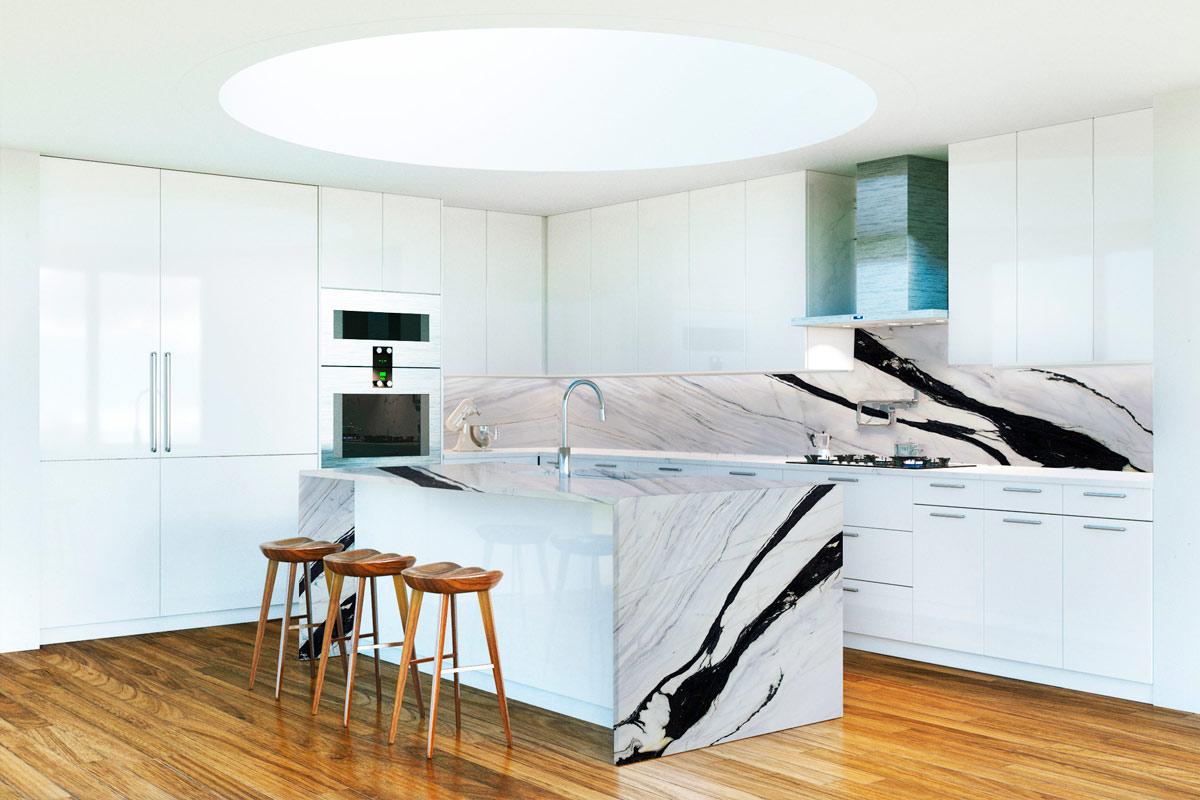 Cocina encimera - Bianco Lasa - Kitchen countertop