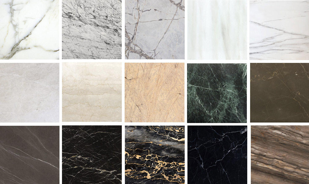 Types of marble | Classification by color and type | TINO Natural ...