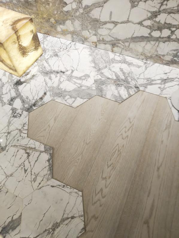 Baldosas hexagonales de mármol - Hexagonal marble tiles