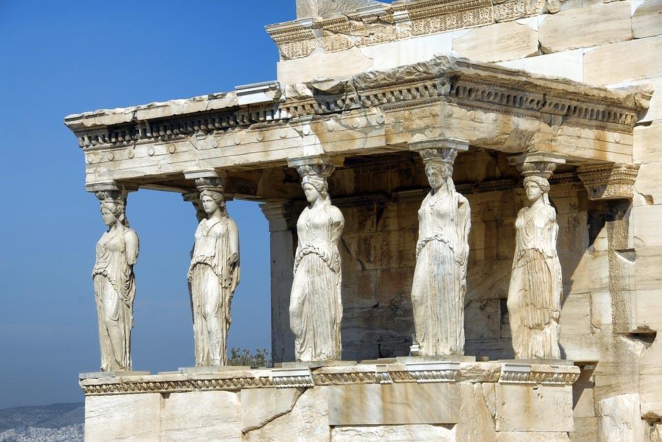 Mármol pentélico - Cariátides Acrópolis - Pentelic marble