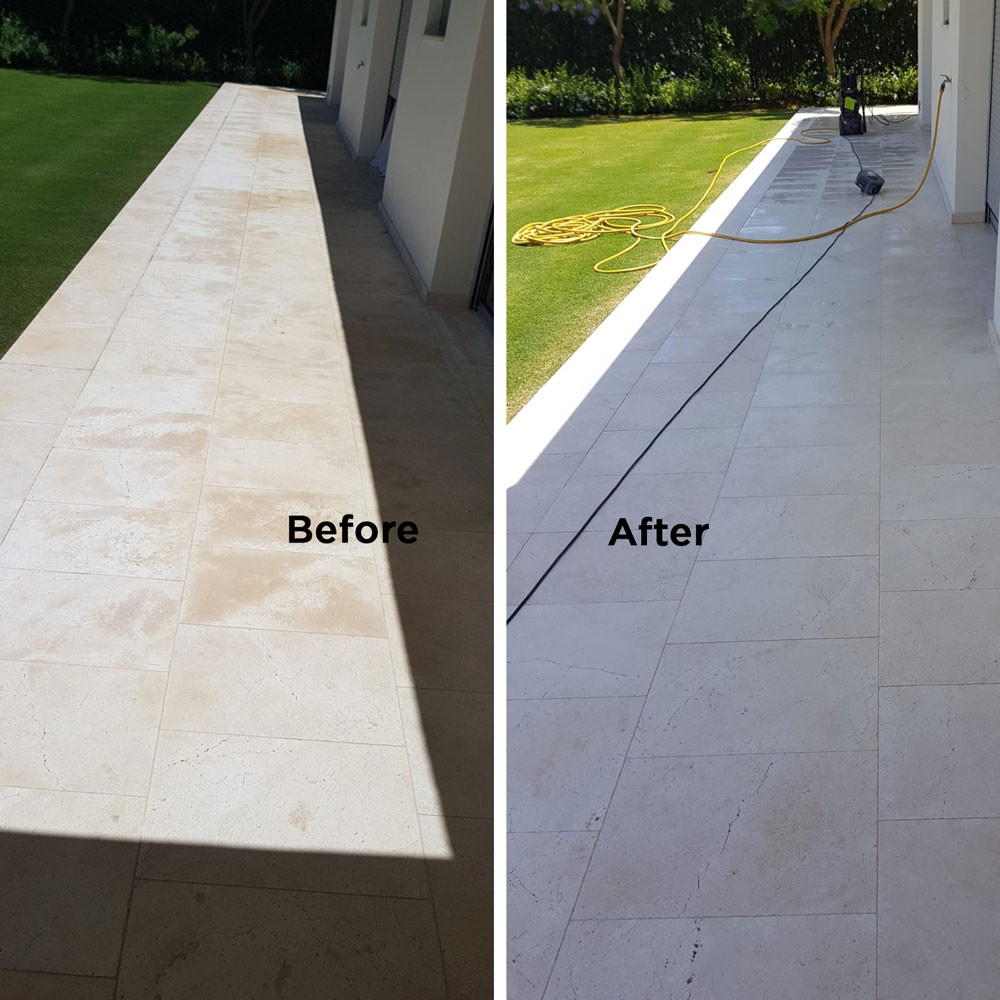 Fungi and bacteria by moisture in marble and natural stone treatment