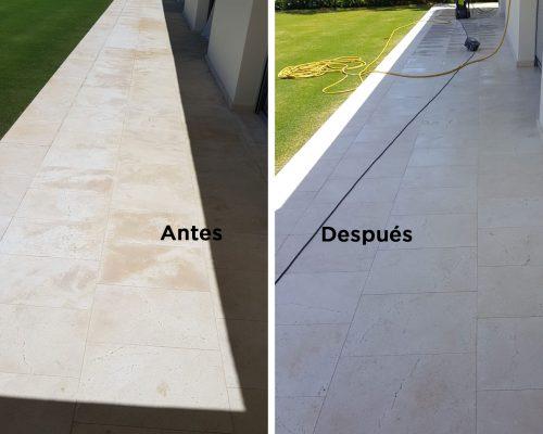 Tratamiento de hongos y bacterias por humedad en mármol y piedra natural