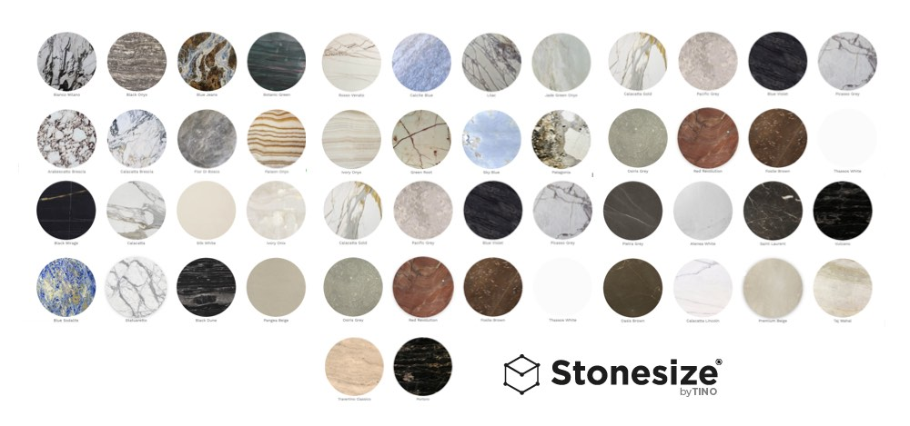 Web Stonesize by TINO® - Natural Stone collection