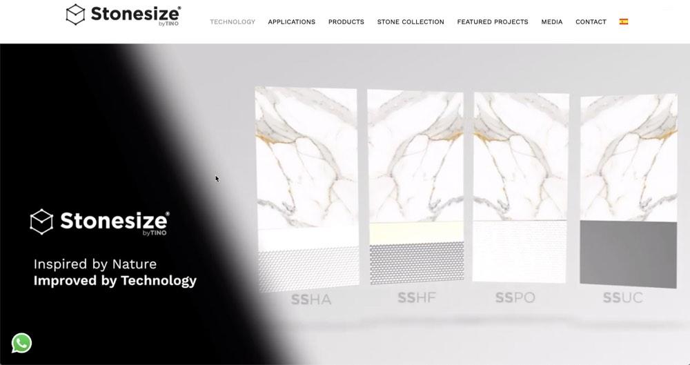 Nueva web Stonesize by TINO® - Technology