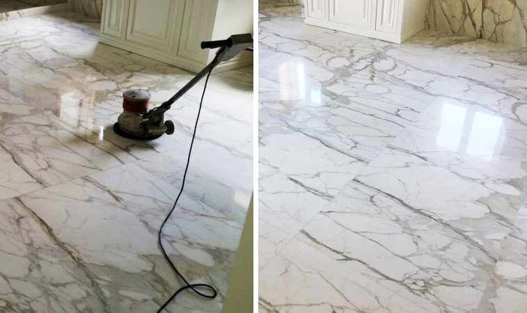 Polishing A Marble Floor Respecting The Stone Tino Natural Stone