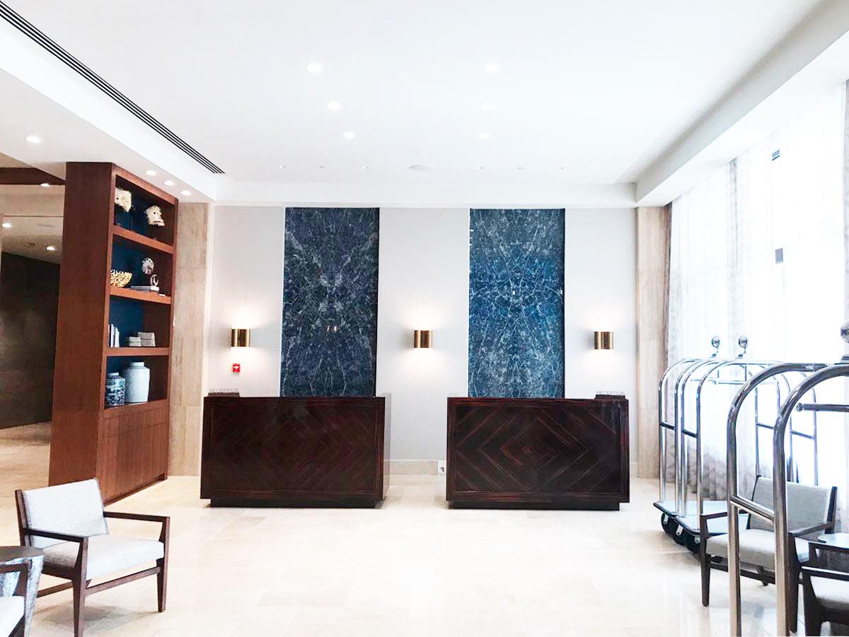 Panel Sodalita Azul - Santa María Court - Blue Sodalite panel