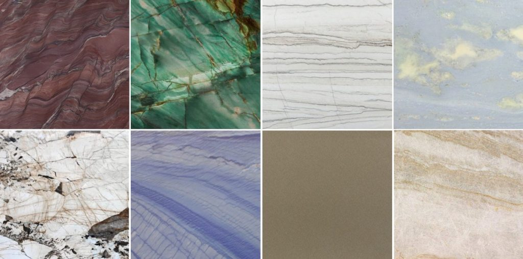 Tipos de cuarcita para interiorismo y arquitectura - Quartzite types for architecture and interior design