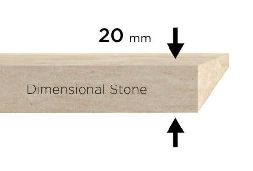 Espesor piedra dimensional