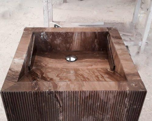 Lavabo piedra natural - Textura Bamboo texture - Natural stone sink