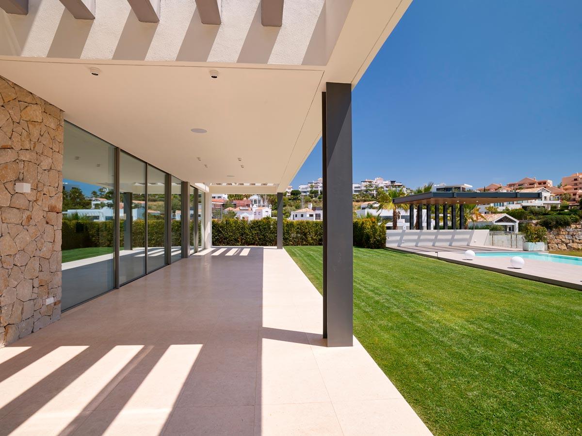 Suelo de Travertino exterior - Villa IX - Exterior Travertine flooring
