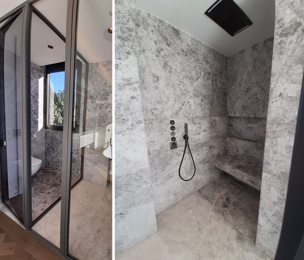 Revestimiento de mármol Gris Pacífico para el baño - Pacific Grey marble bathroom cladding