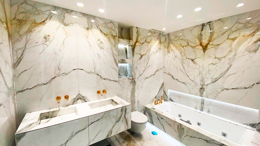 Baño mármol Calacatta - Calacatta bathroom